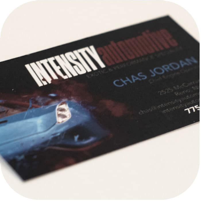 Intensity Automotive Business Card